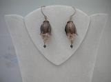 Natural brass Tulip earrings