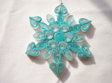 A Touch of Green Quilled Snowflake Ornament