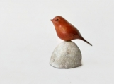 Bird wood carving hand carved sparrow made in canada