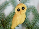 Christmas ornament wooden owl hand carved wood christmas tree decoration christmas owl gift teacher gift  for child baby christmas gift