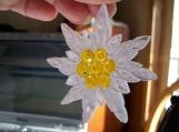 Edelweiss Snowflake Ornament