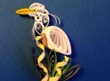 Great White Egret Quilled Magnet