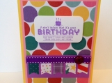 Saucy birthday card with big polkadots