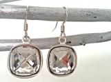 Cushion-Cut Swarovski Diamond Crystal Earrings