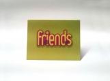 Friends Yellow, Pink & Green Note Card Keepsake