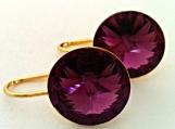 Swarovski Amethyst Crystal Earrings