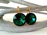 Swarovski Emerald Crystal Earrings