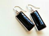 Swarovski Jet Black Crystal Earrings