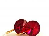 Swarovski Ruby Red Crystal Earrings