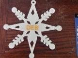 4 1/2 inch snowflake
