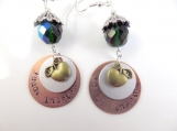 Hand stamped teacher earrings