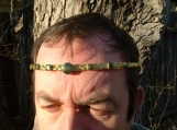 Gold Dragonrider Circlet Crown w Nephrite Jade F'lar/Lessa