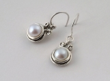 Designer Earrings Dangle Cabochon Pearl Jewelry Vintage 100% Solid Fashion for Women Shablool Didae
