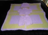 Pink/Yellow layette set