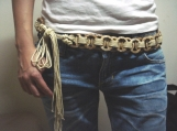 EXTREMELY PRETTY COCO DESIGN HAND CRAFTED CHAIN BELT