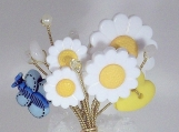 Flowers & Butterflies Forever Brooch
