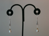 Silver Pearl Dangling Earrings