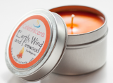 Earth, Wind and Firewood Scented Aromatherapy Soy Candle