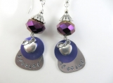 Hand stamped special teacher earrings