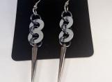 Hardware Earrings, Spike Earrings, Dangle Earrings
