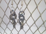 Industrial Earrings, Hardware Earrings, Silver Earrings