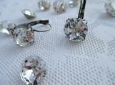 Crystal 10mm clear round chaton drop earrings-Swarovski crystals