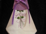 Beautiful 'Get Well'  Hanky Dress - in Lilac