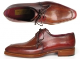 Paul Parkman Goodyear Welted Square Toe Apron Derby Shoes Brown