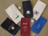 Embroidered Golf Towels - Personalized with Name Included