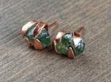 Raw stone stud earrings | Rough stone stud earrings