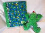 """Frog Pillow and 8.5x11"""" Album for the Little Man in your life"""
