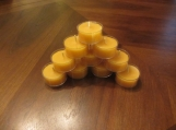 Pure Beeswax Candle Tealights in bulk of 120