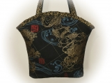 Tootles Boutique Bag - Asian Oriental Black Designer Fabric