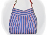 Tootles Boutique Bag - Heavy Royal Blue White Red Stripe