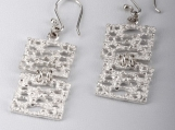 950 Sterling Silver Biscuits Earrings