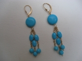 Faux Turquoise Dangling Earrings