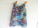 Paisley and Orange swirl reversible A line dress size 3T