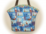 J Castle Designs Bag - Snoopy Linus Peanuts Bag Designer Fabric