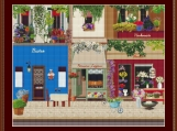 French Street Cross Stitch Pattern