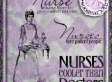 Nurses, Word art and Vintage Image