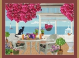 Veranda By The Sea Cross Stitch Pattern