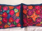 "1 pair (2 Blue pillow cover ) handwoven and embroidered. 19.5"" x 19.5"" (50cm x 50cm)"