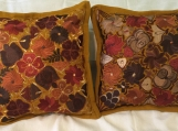 "1 pair (2 Bronze pillow cover ) handwoven and embroidered. 19.5"" X 19.5"" (50cm x 50cm)"