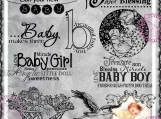 Baby Makes Three Bundle, Digi Word Art and Image Set