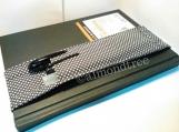 Grey polka dots notebook Journal pen holder bandolier id1370358