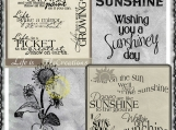 Life and Sunshine Digi Word art and Image Set