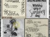 Life and Sunshine Digi Word art and Image Set