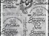Sympathy for Family Digi Word art and Image Set