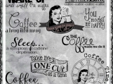 Coffee Time Digi Image and Word Art Set