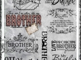 Oh Brother Digi Image and Word Art Set